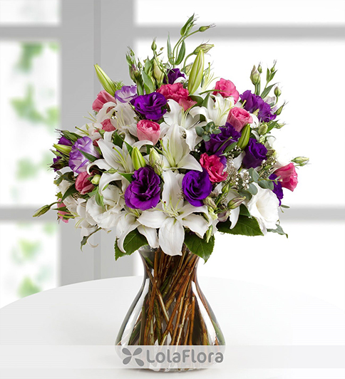 lilies and lisianthus