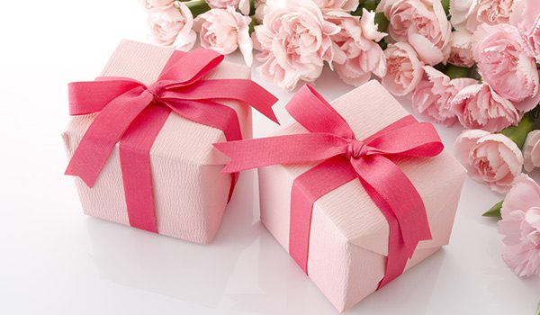 Carnations with Gifts